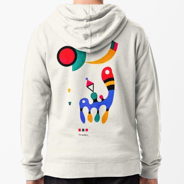 Kandinsky 1944 Composition | Kandinsky Fine Art w/ Signature  Zipped Hoodie