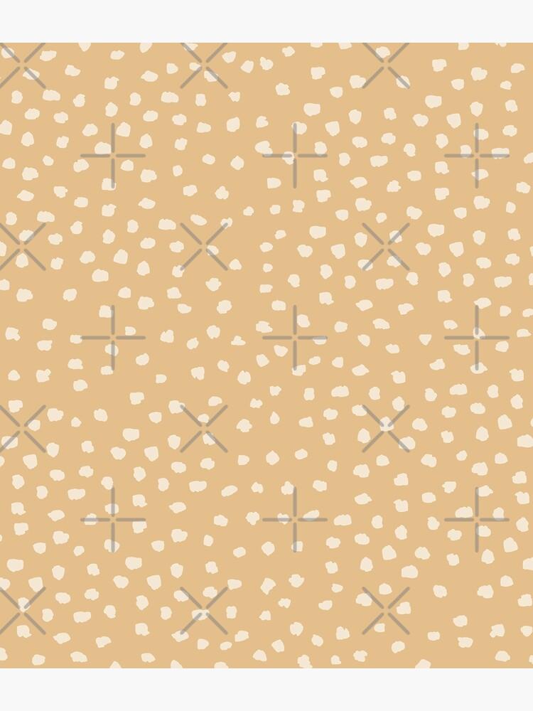Buttercream Dalmatian Dots on Desert Mist Neutral tones by ebozzastudio