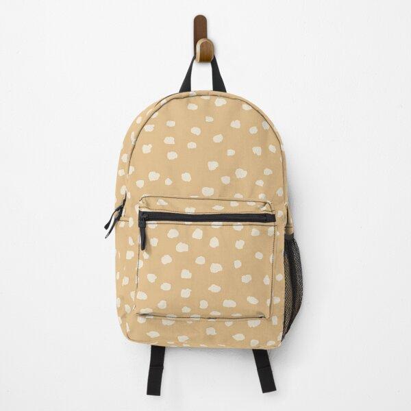 Buttercream Dalmatian Dots on Desert Mist Neutral tones Backpack