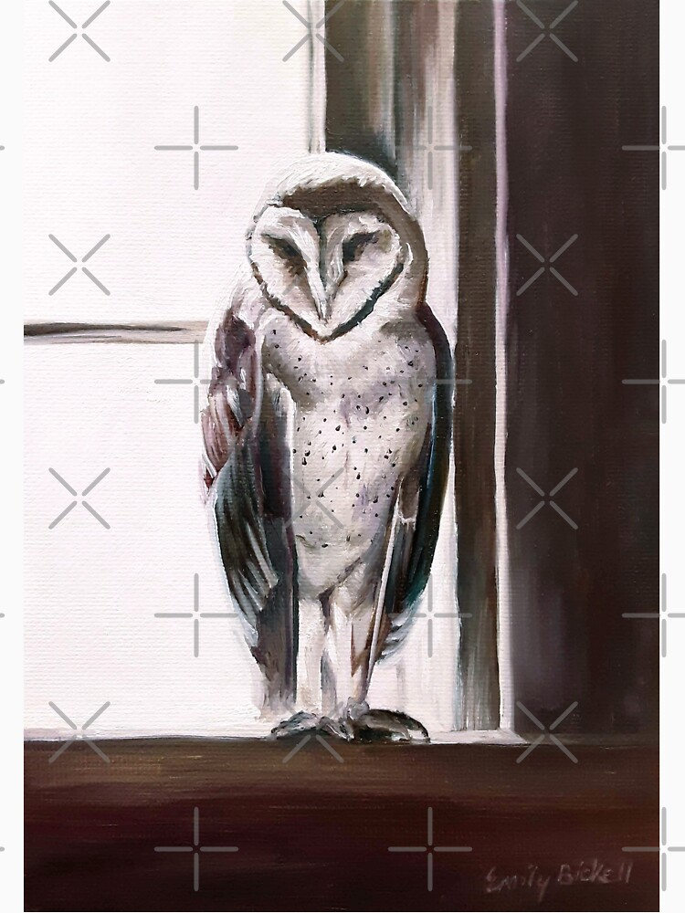 Purple Barn Owl painting by EmilyBickell