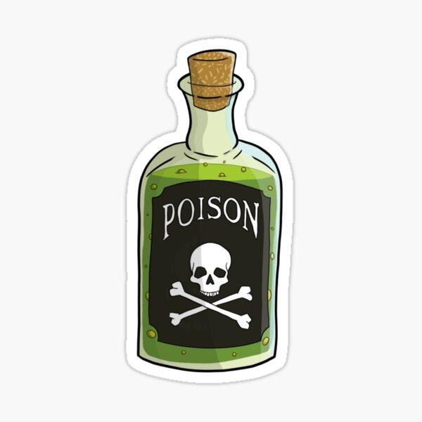 Halloween poison bottle apothecary  Sticker