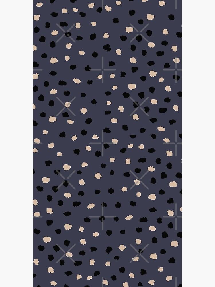 Dalmatian Dots Neutral Pattern on Inkwell Blue by ebozzastudio