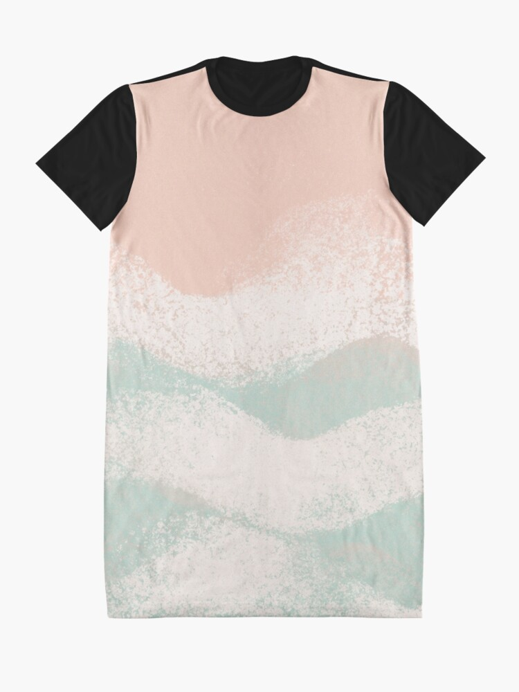 Alternate view of Turquoise Ocean Waves Graphic T-Shirt Dress