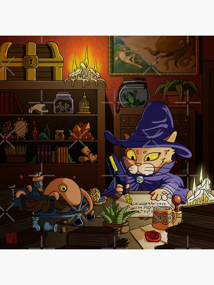 Baz the Cat Wizard by DingHuArt