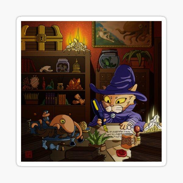 Baz the Cat Wizard Sticker