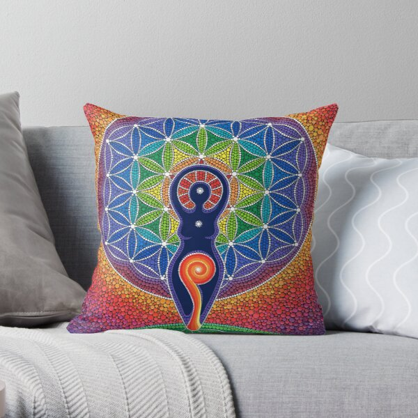 Goddess of the World Throw Pillow