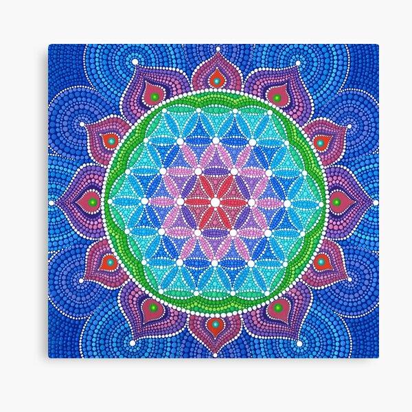 Divine Lotus Mandala Canvas Print