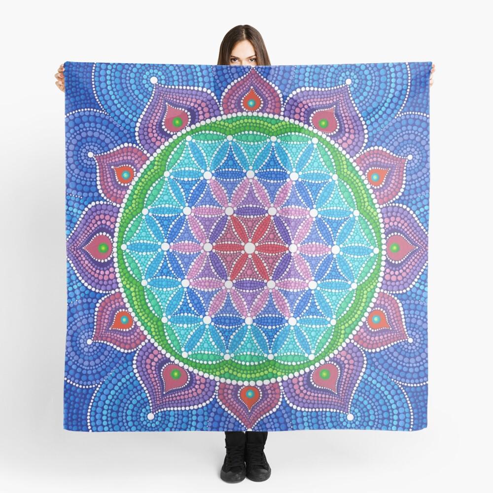 Divine Lotus Mandala Scarf