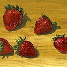 Handful of Strawberries by bernzweig