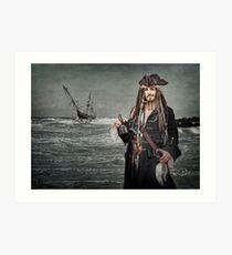 Captain Jack Saves The Rum Art Print