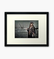 Captain Jack Saves The Rum Framed Print
