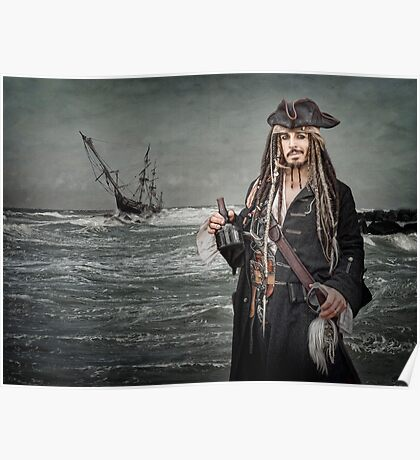 Captain Jack Saves The Rum Poster