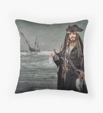 Captain Jack Saves The Rum Throw Pillow