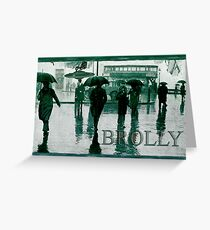 Brolly Brains. Greeting Card