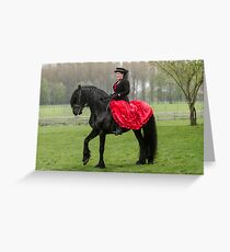 Friesian Horse and Rider Greeting Card