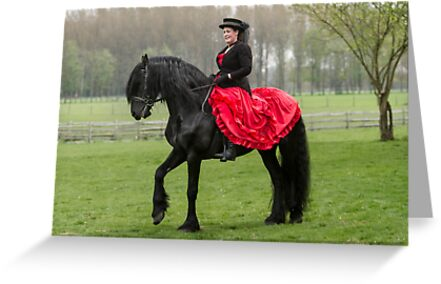 Friesian Horse and Rider by Patricia Jacobs DPAGB LRPS BPE4