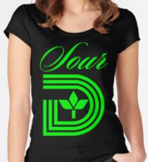 Sour D Green Apple Women's Fitted Scoop T-Shirt