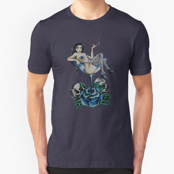 Blues Theme Man's Ruin Slim Fit T-Shirt