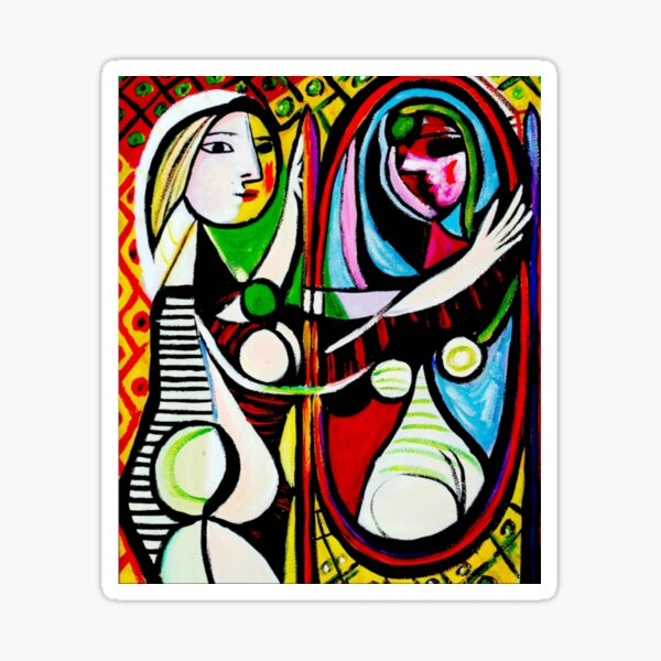 """Pablo Picasso's """"Girl in Front of Mirror"""" Sticker"""
