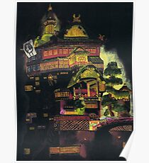 Spirited Away - Bath House at Night Poster