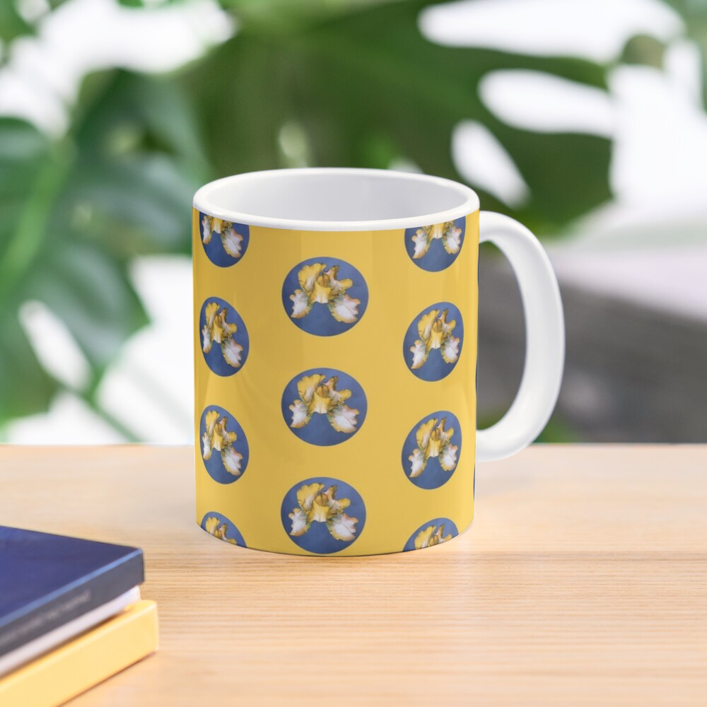 Rainbow Iris - Blue Circle Mug