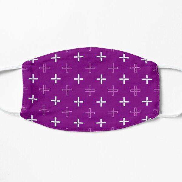Open Greek Cross in Purple Flat Mask