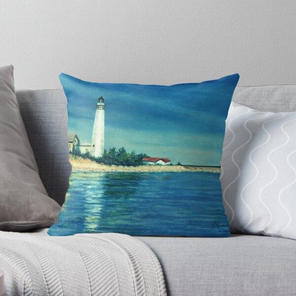 South Manitou Lighthouse Throw Pillow