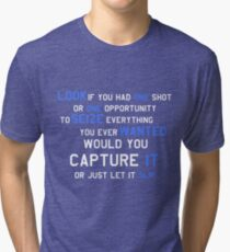 EMINEM MOTIVATIONNAL SHIRT WHITE&BLUE Tri-blend T-Shirt