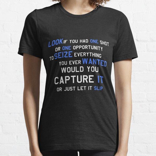 CHEMISE MOTIVATIONNELLE EMINEM BLANC & BLEU T-shirt essentiel