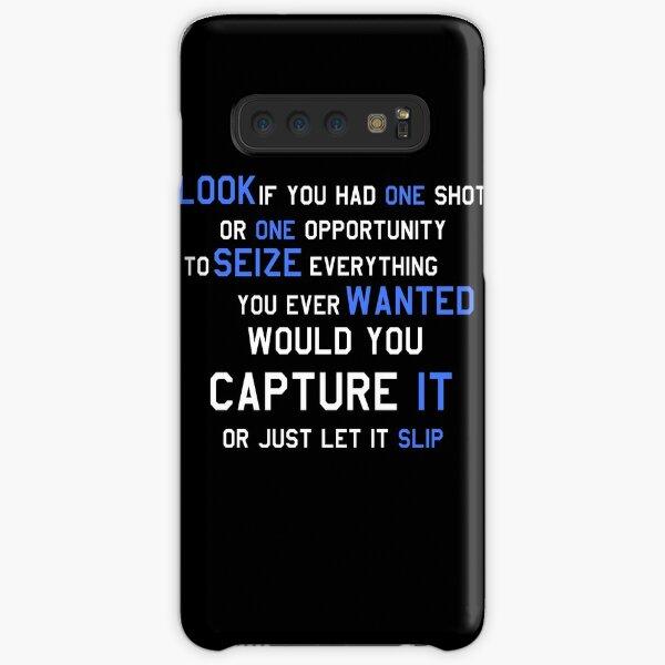 EMINEM MOTIVATIONNAL SHIRT WHITE&BLUE Samsung Galaxy Snap Case