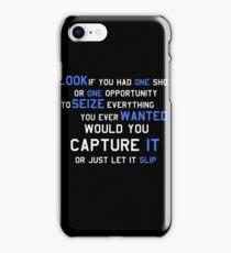 EMINEM MOTIVATIONNAL SHIRT WHITE&BLUE iPhone Case/Skin