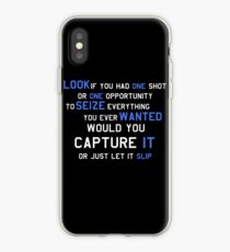 EMINEM MOTIVATIONNAL SHIRT WHITE&BLUE iPhone Case