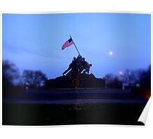 IWO JIMA War Statue Poster
