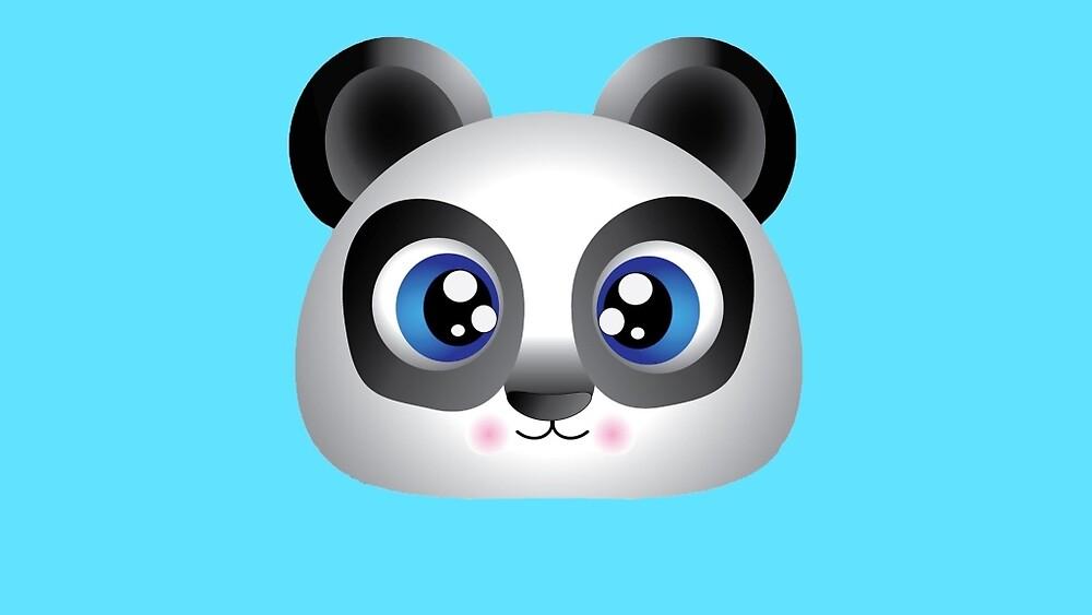 Cute, Adorable Panda, Original illustration by Dillon McLaren