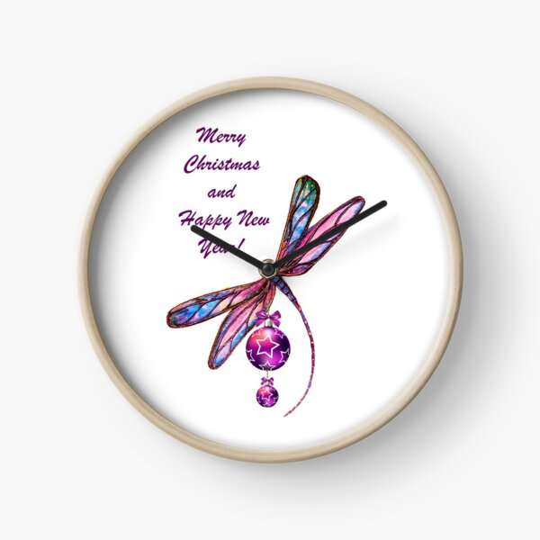 Christmas Dragonfly Clock