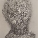Bust of a Primitive Man. by Tim  Duncan