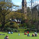 A view of Oran Mor from the Botanic Gardens by biddumy