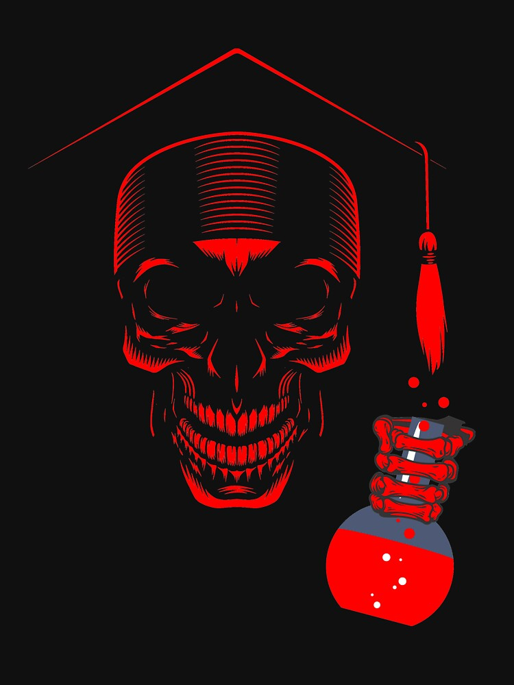 Educated ghost or Skull with science degree by abhinavt777