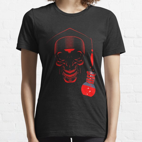 Educated ghost or Skull with science degree Essential T-Shirt