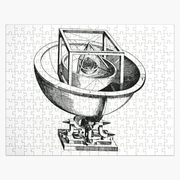 Johannes Kepler model, Radio telescope, illustration, exploration, water, science, vector, design, technology Jigsaw Puzzle