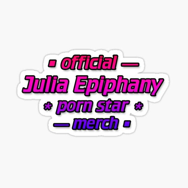 Official Julia Epiphany Porn Star Merch Sticker
