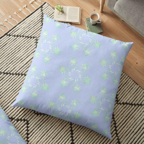 Sapphire Leafy Sea Dragon Floor Pillow