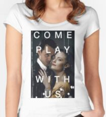 Playing the great game. Women's Fitted Scoop T-Shirt