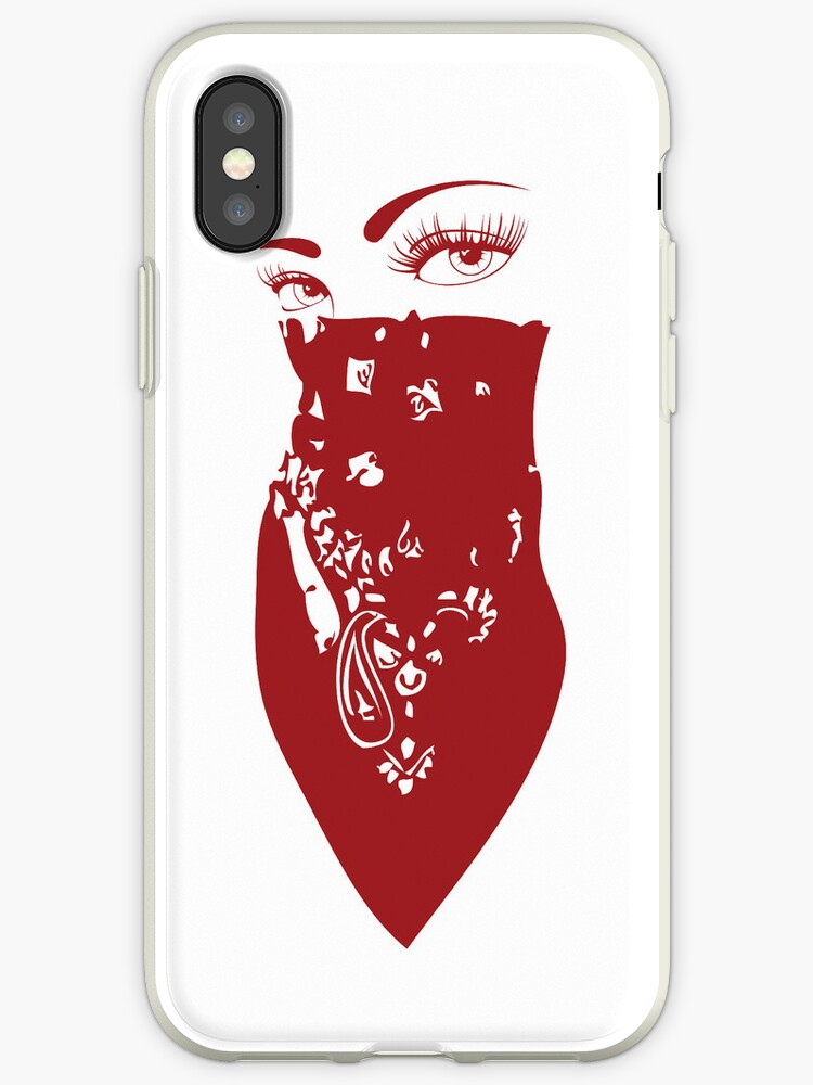 on sale 9990a 57fec 'Red Bandana Girl' iPhone Case by mamisarah