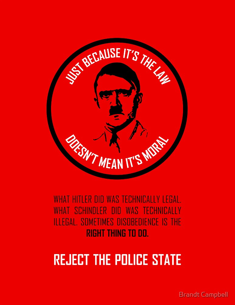Reject The Police State by Brandt Campbell