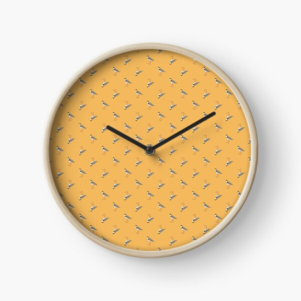 Orderly Lapwings (gold) Clock