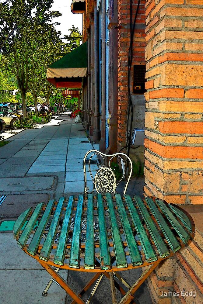 Table On A Sidewalk by James Eddy