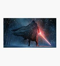 Kylo Ren Watercolor 2 Photographic Print
