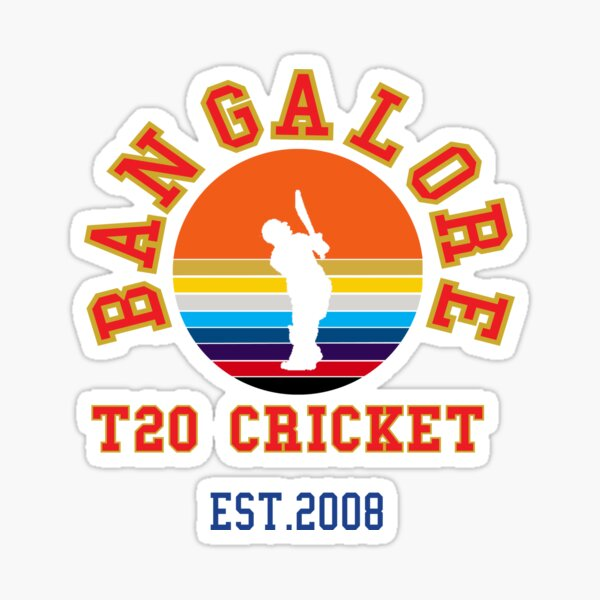 Bangalore T-20 Cricket in India 2020  Sticker