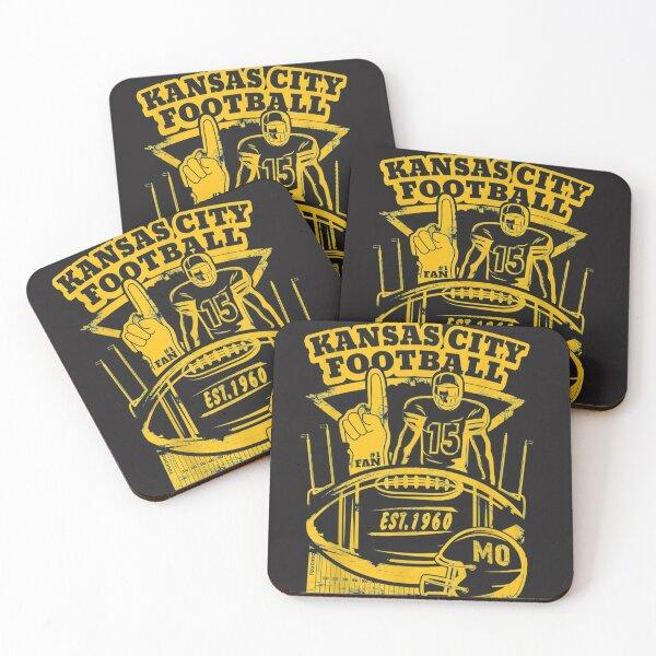 Kansas City Retro Vintage Kc Football Missouri 2020 Gift  Coasters (Set of 4)